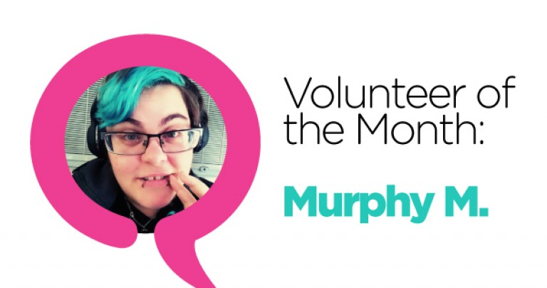 May Volunteer of the Month: Murphy M.