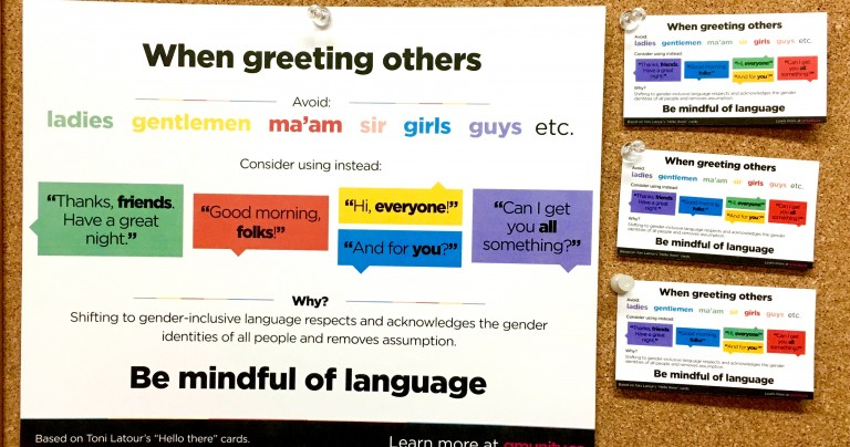 Gender-Inclusive Language Sheet