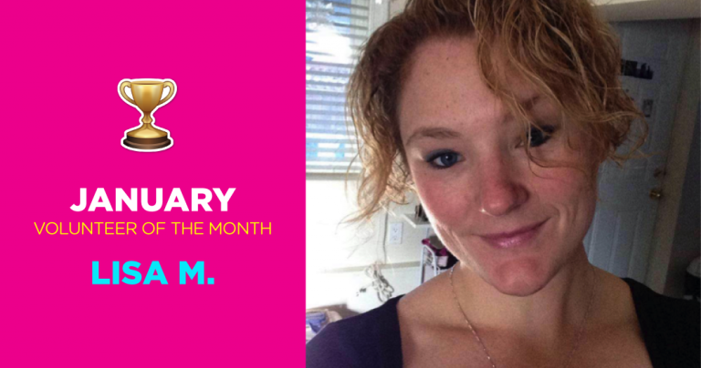 January Volunteer of the Month: Lisa M.