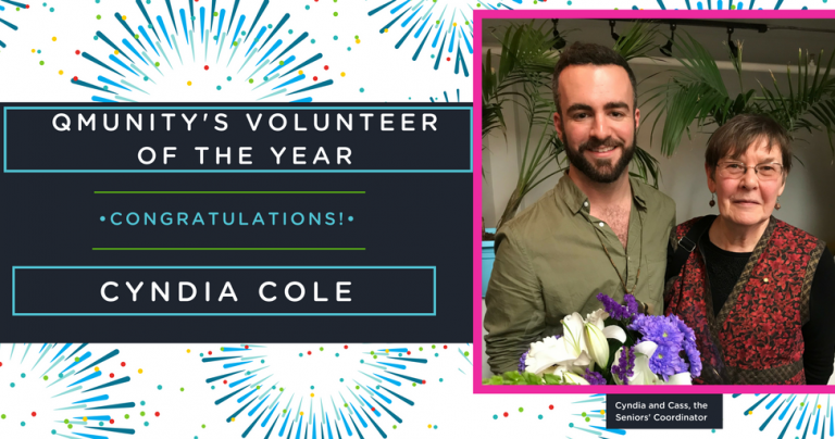 Q's Volunteer of the Year – Cyndia Cole