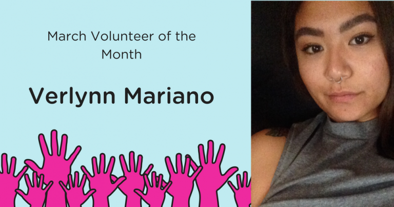 March Volunteer of the Month – Verlynn Mariano