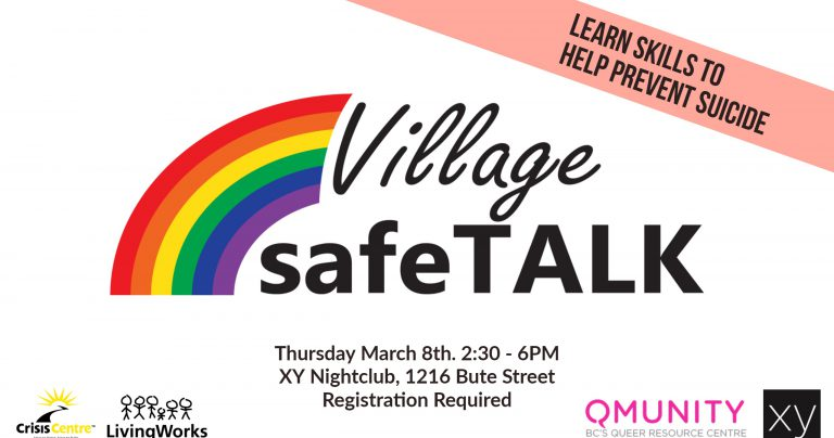 Village safeTALKn with Q and the Crisis Centre