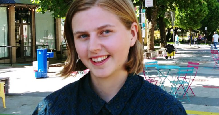 Hanna, Q's summer Pride Outreach Coordinator