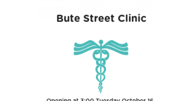 Tuesday Oct 16 – Bute Street Clinic Opening at 3:00 PM