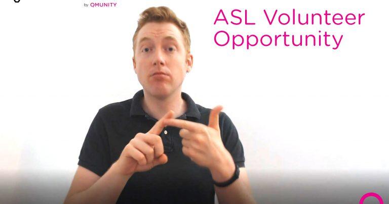 ASL Volunteer – Lived Experience Storyteller